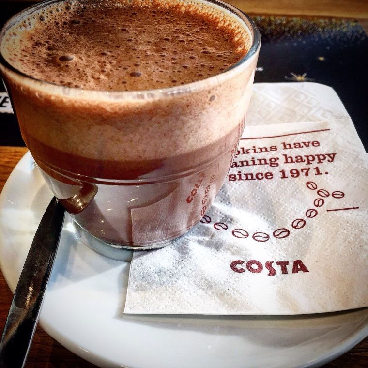 Lindt hot chocolate COsta Coffee
